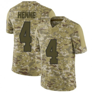 Men's Nike Kansas City Chiefs Chad Henne 2018 Salute to Service Jersey - Camo Limited