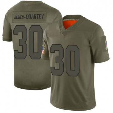 Men's Nike Kansas City Chiefs Harold Jones-Quartey 2019 Salute to Service Jersey - Camo Limited