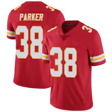 Men's Nike Kansas City Chiefs Ron Parker 100th Vapor Jersey - Red Limited