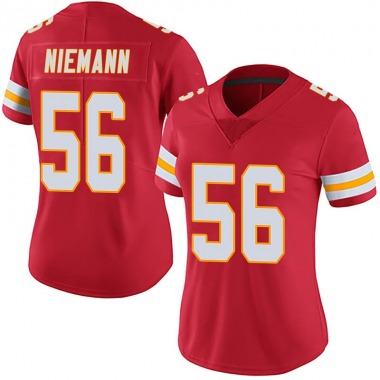 Women's Nike Kansas City Chiefs Ben Niemann 100th Vapor Jersey - Red Limited