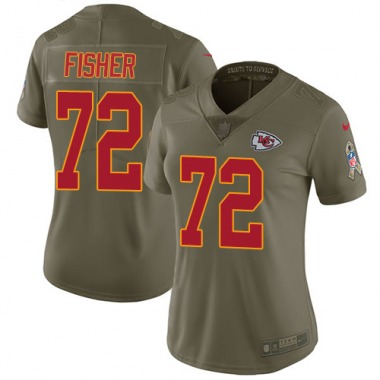 Women's Nike Kansas City Chiefs Eric Fisher 2017 Salute to Service Jersey - Olive Limited