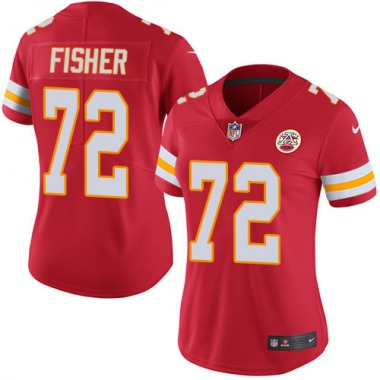 Women's Nike Kansas City Chiefs Eric Fisher Team Color Jersey - Red Limited
