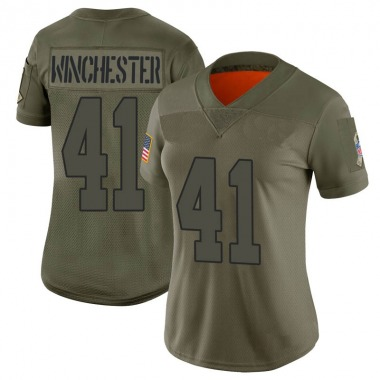 Women's Nike Kansas City Chiefs James Winchester 2019 Salute to Service Jersey - Camo Limited