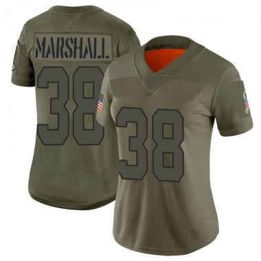 Women's Nike Kansas City Chiefs Marcus Marshall 2019 Salute to Service Jersey - Camo Limited