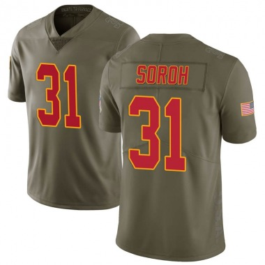 Youth Nike Kansas City Chiefs Andrew Soroh 2017 Salute to Service Jersey - Green Limited