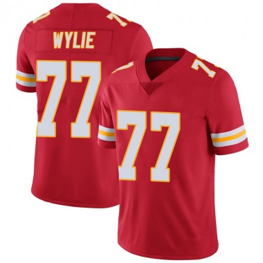 Youth Nike Kansas City Chiefs Andrew Wylie 100th Vapor Jersey - Red Limited