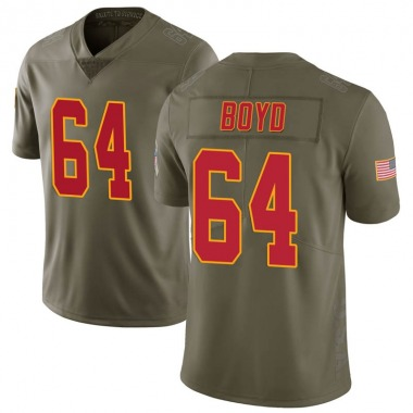 Youth Nike Kansas City Chiefs Dino Boyd 2017 Salute to Service Jersey - Green Limited