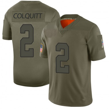 Youth Nike Kansas City Chiefs Dustin Colquitt 2019 Salute to Service Jersey - Camo Limited