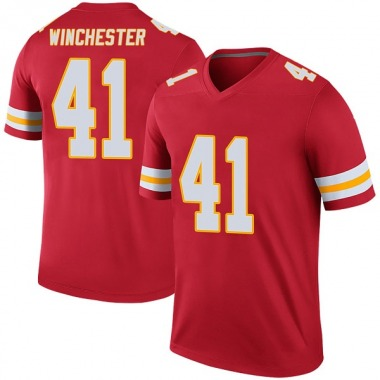 Youth Nike Kansas City Chiefs James Winchester Color Rush Jersey - Red Legend