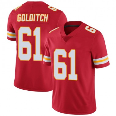Youth Nike Kansas City Chiefs Zack Golditch 100th Vapor Jersey - Red Limited